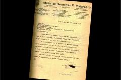 Carta Filiação Industria Matarazzo